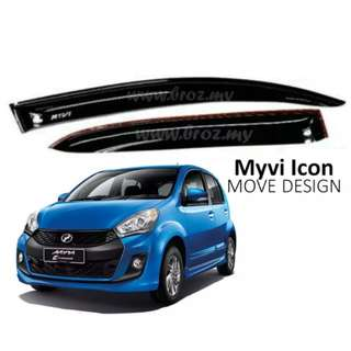 Air press window door visor wind deflector for perodua myvi