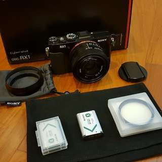 Sony RX1 FF, almost mint condition