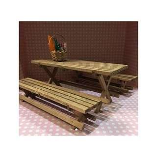 迷你 手作 木製 戶外桌椅