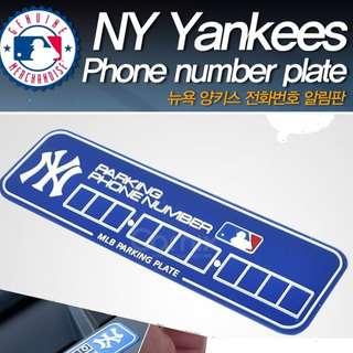 韓國入口 , 棒球NY電話號碼牌 --- 韓國製