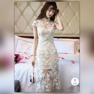 Lace Cheong Sam- brand new with tag