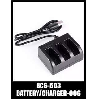 GOPRP TRIPLE BATTERY CHARGER HERO5 BCG-503