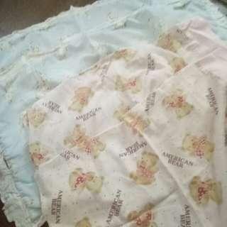 4pcs Bear pillowcase pink and blue