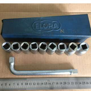 Hand Tool - Elora 10 piece Socket Set (Made in Germany)