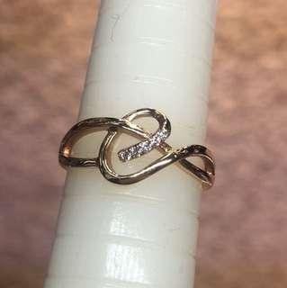 18kt diamond ring rose gold
