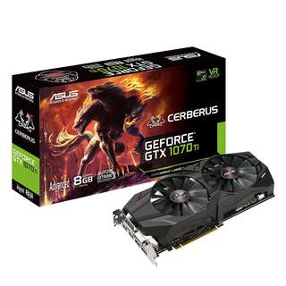 BNIB - ASUS Cerberus GeForce GTX 1070 Ti 8GB GDDR5 Advanced Edition(CERBERUS-GTX1070TI-A8G)