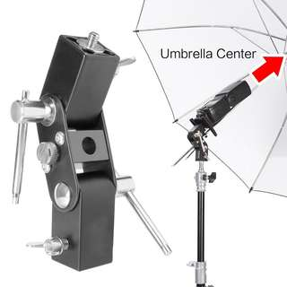 Pxel AALS7 U Clamp Clip Light Stand Bracket Umbrella Reflector Holder