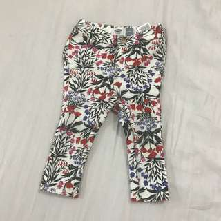 Authentic Old Navy Floral baby jeggings