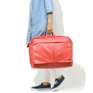 porter運動sports斜咩袋shoulder手挽側背包boston bag波士頓包duffle商務旅行business trip travel紅色 Red