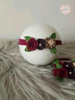 Handmade flower headband for baby and kids
