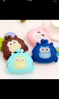 Owl silicone coin purse