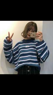 (PO) ulzzang Striped Long Sleeve Top