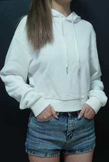 Cropped Sweater (White)