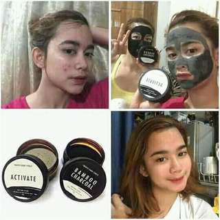Activate and bamboo charcoal face mask