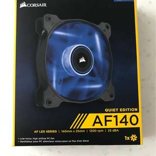 Corsair Air Series AF140 140mm 1500 rpm Quiet Edition High Airflow Fan (Blue LED)