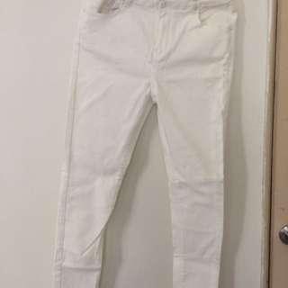 🚚 白色彈性褲