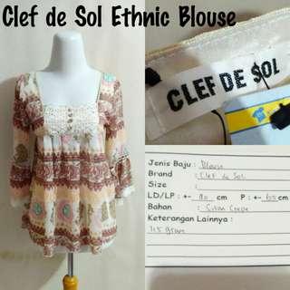 Clef de Sol Ethnic Blouse | Pakaian Wanita | Atasan Import