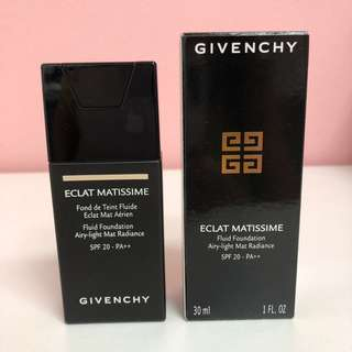 Givenchy Eclat Matissime Fluid Foundation Airy-Light Mat Radiance SPF20-PA++ 30ml