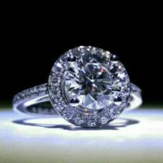 1.53卡鑽石戒指(有GIA證書)(圍鑲)(3個excellent)