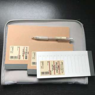 MUJI stationary&notebook set