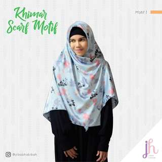Kerudung scarf motif