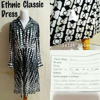 Ethnic Classic Dress | Pakaian Wanita | Terusan Import