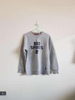 Bad Sports Grey Jumper