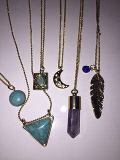 Over 30 assorted chokers and necklaces