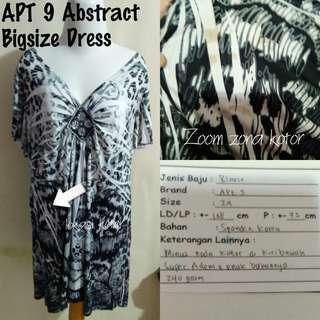 APT9 Abstract Bigsize Dress | Pakaian Wanita | Terusan Import