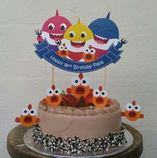 $13 Baby Shark Cake Cupcake Topper