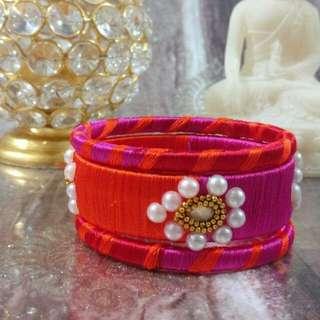 Designer hand made silk thread bangles
