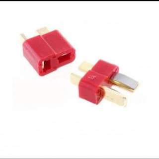 A Pair Of Fireproof T Plug Connector For RC ESC Battery