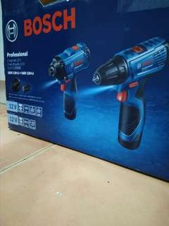 Combo BOSCH 12V Cordless Impact Driver + Cordless Drill Driver