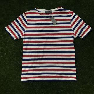 Lowry's Farm Blue/Red Striped Cotton T-Shirt