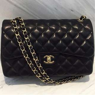 Chanel Jumbo Double Flap Black Lambskin with GHW