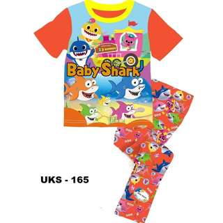 Baby Shark Short Sleeve Pyjamas For (2 Yrs To 7 Yrs)