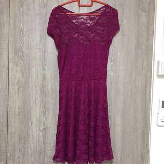 Elegant purple lacey dress