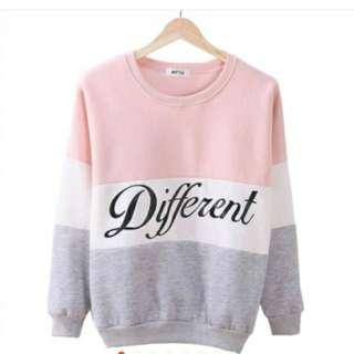 Women Fashion Alphabet Sweatshirt Cotton top