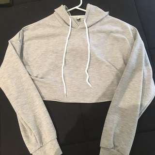 Wish Grey Crop Jumper