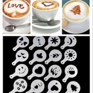 Cetakan Tabur Kopi Susu Cappucino Coffee Latte Mold Maker - HPD063