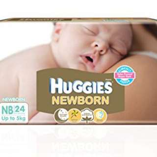 Huggies newborn diaper (24 pieces per pack)