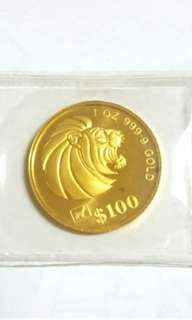 1991 Pure Gold Coin