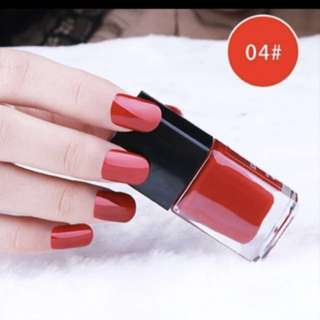 Red nail polish peel off