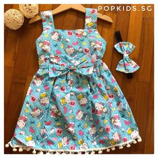 🎀INSTOCK - Hello Kitty Pom-Pom Dress + Headband 🎀