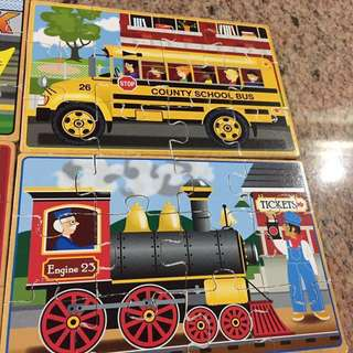 Melissa and Doug Vehicle Puzzles (4 in a box)