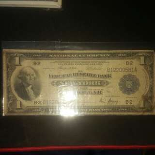 1918 $1 National Currency (New York)