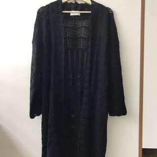轉賣全新Mihara正韓貨針織長版罩衫外套