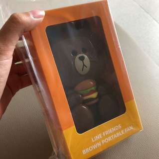 [BNIB] MCDONALDS X LINE FRIENDS BROWN PORTABLE FAN