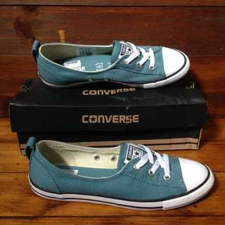 DIJUAL RUGI CONVERSE CT AS BALLET LACE SLIP SEASIDE BLUE