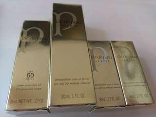 日本 Cle De Peau eye and lip makeup remover & SPF 50 UV protection cream